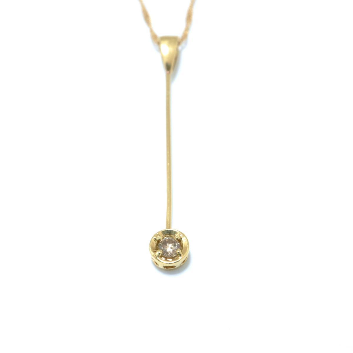 ジュエリー ダイヤモンド ネックレス ノーブランドジュエリー レディース K18YG 750イエローゴールド x ダイヤモンド 0 05ctクリアー x ゴールドoxerdCBW