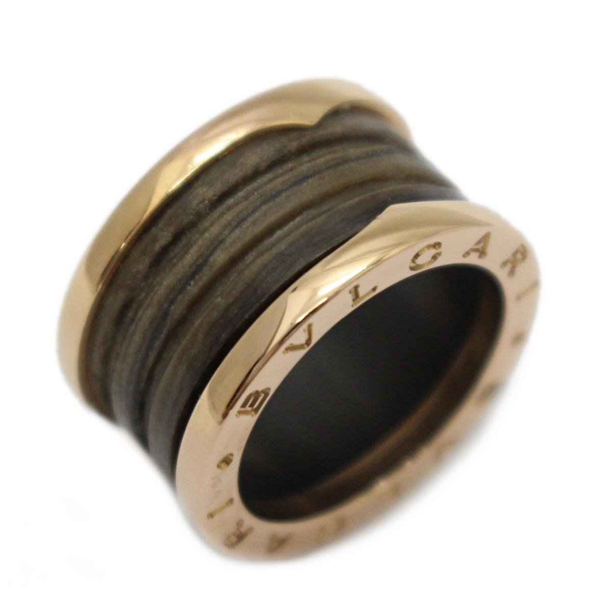 ブルガリ B-zero1 リング マーブル 指輪 ブランドジュエリー メンズ レディース K18PG (750) ピンクゴールド × ローズゴールド ブラウン 【中古】 | BVLGARI BRANDOFF ブランドオフ ブランド ジュエリー アクセサリー