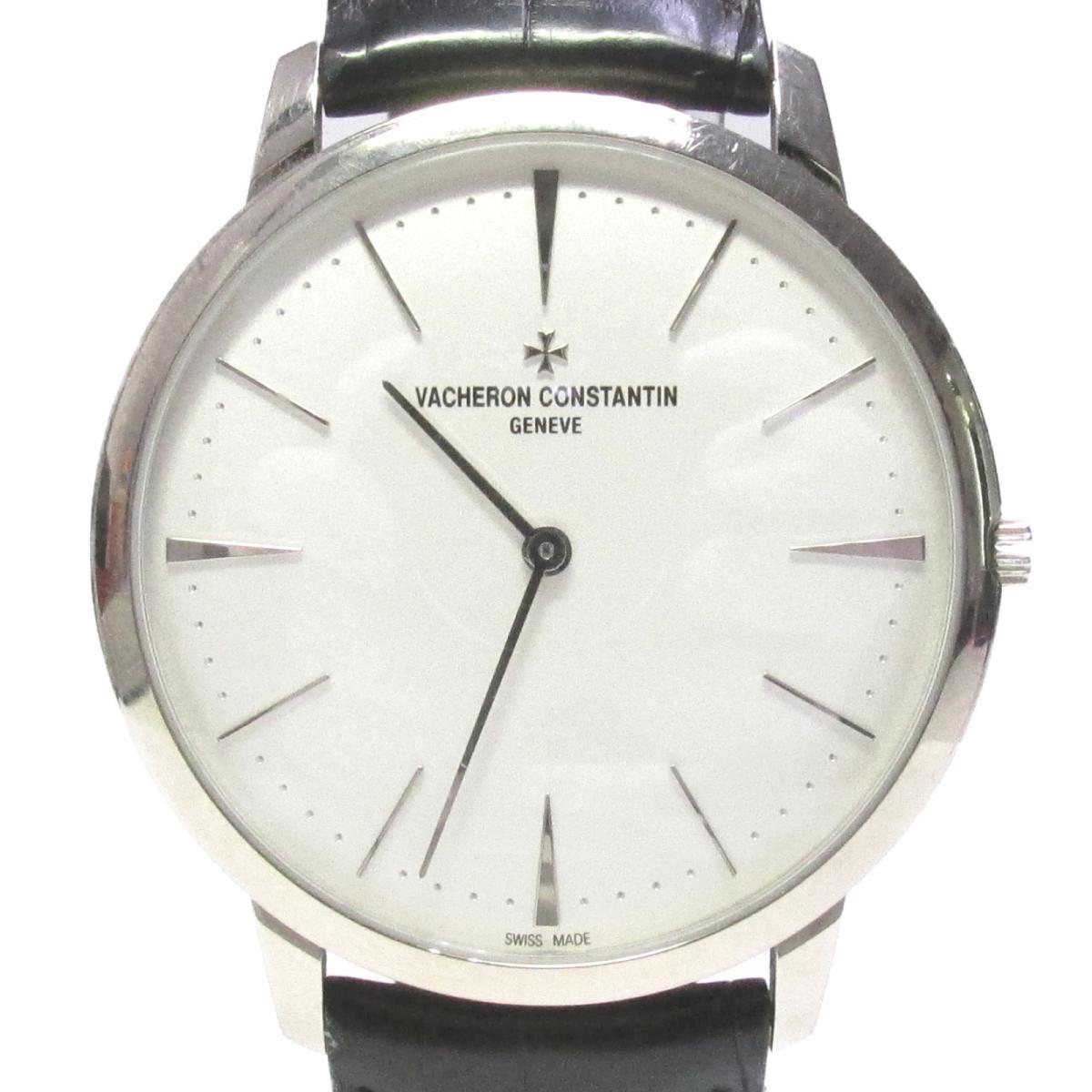上品 ヴァシュロン・コンスタンタン パトリモニー 腕時計 ウォッチ 時計 メンズ K18WG (750) ホワイトゴールド x アリゲーターベルト ホワイト (81180 | VACHERON CONSTANTIN BRANDOFF ブランドオフ ブランド ブランド時計 ブランド腕時計, 神戸かぐや姫 55c98980