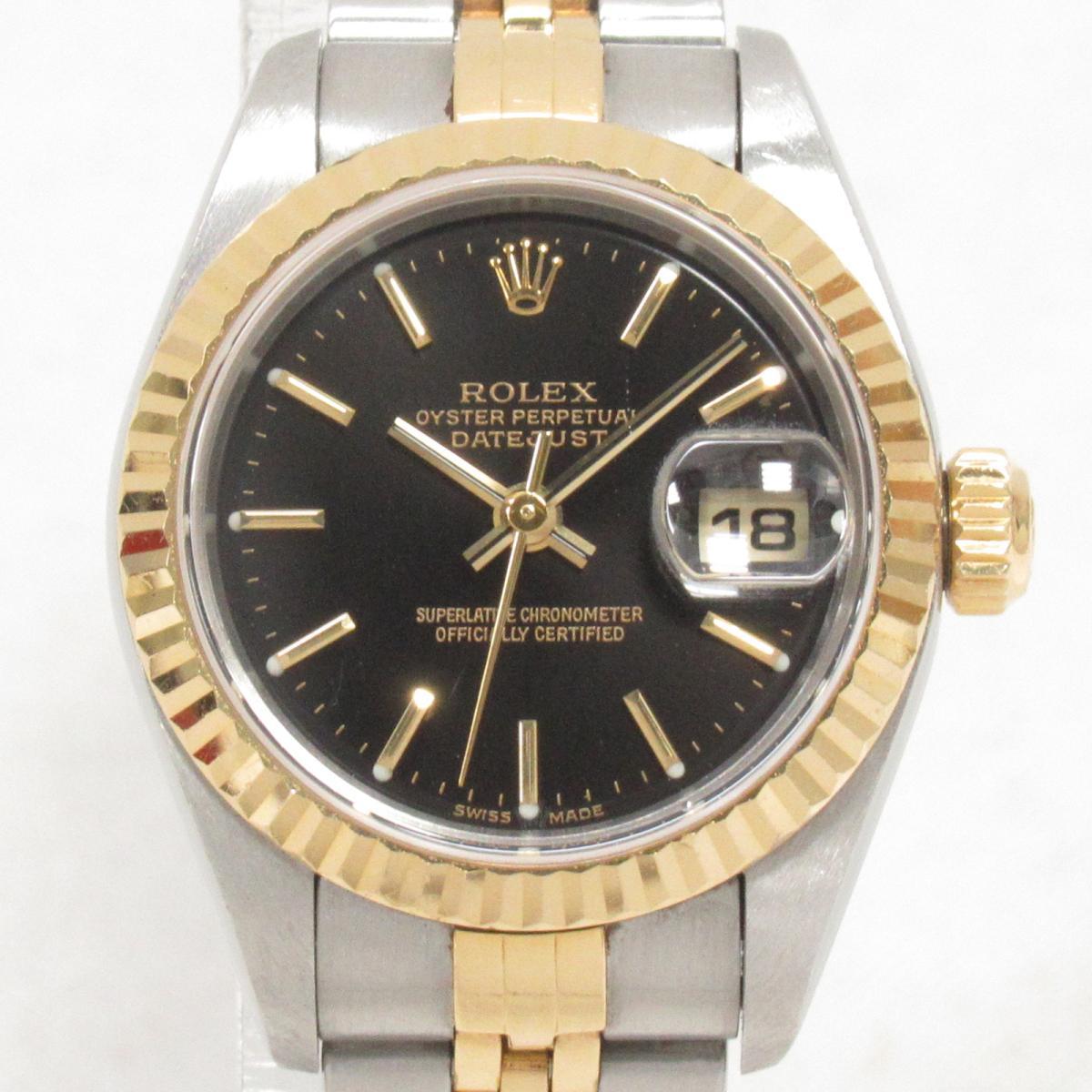 【中古】ロレックス デイトジャスト 腕時計 ウォッチ 時計 レディース ステンレススチール(SS)xK18YG(イエローゴールド) (79173)