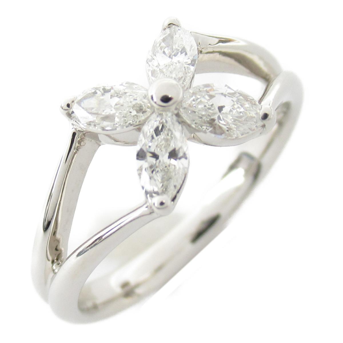 ジュエリー ダイヤモンド リング 指輪 ノーブランドジュエリー レディース PT900 プラチナ x ダイヤモンド0.52ct 【中古】   JEWELRY BRANDOFF ブランドオフ アクセサリー