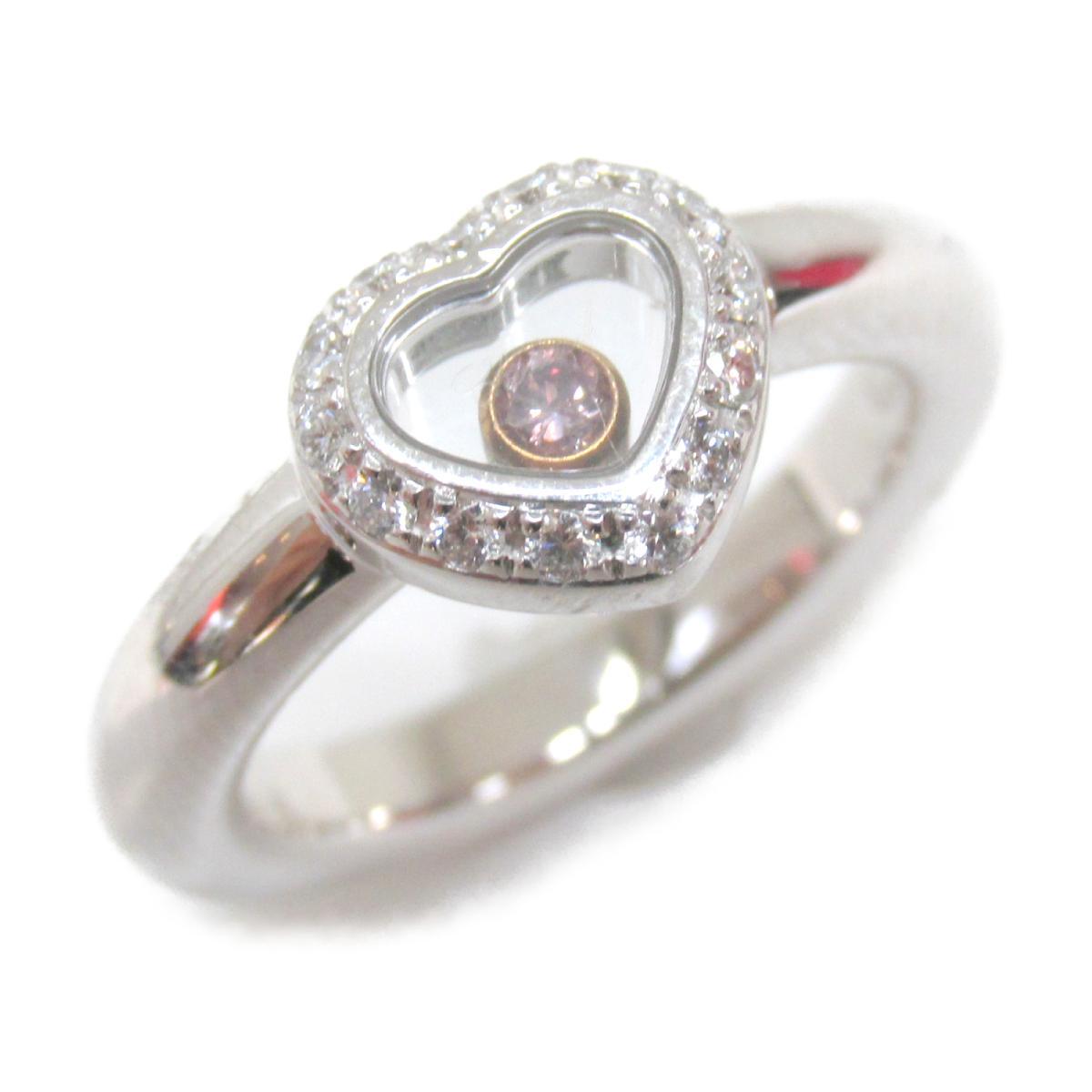 ショパール ハッピーダイヤモンドリング 指輪 ブランドジュエリー レディース K18WG (750) ホワイトゴールド x ダイヤモンド ピンクサファイヤ (2890-20) 【中古】 | Chopard BRANDOFF ブランドオフ ブランド ジュエリー アクセサリー リング