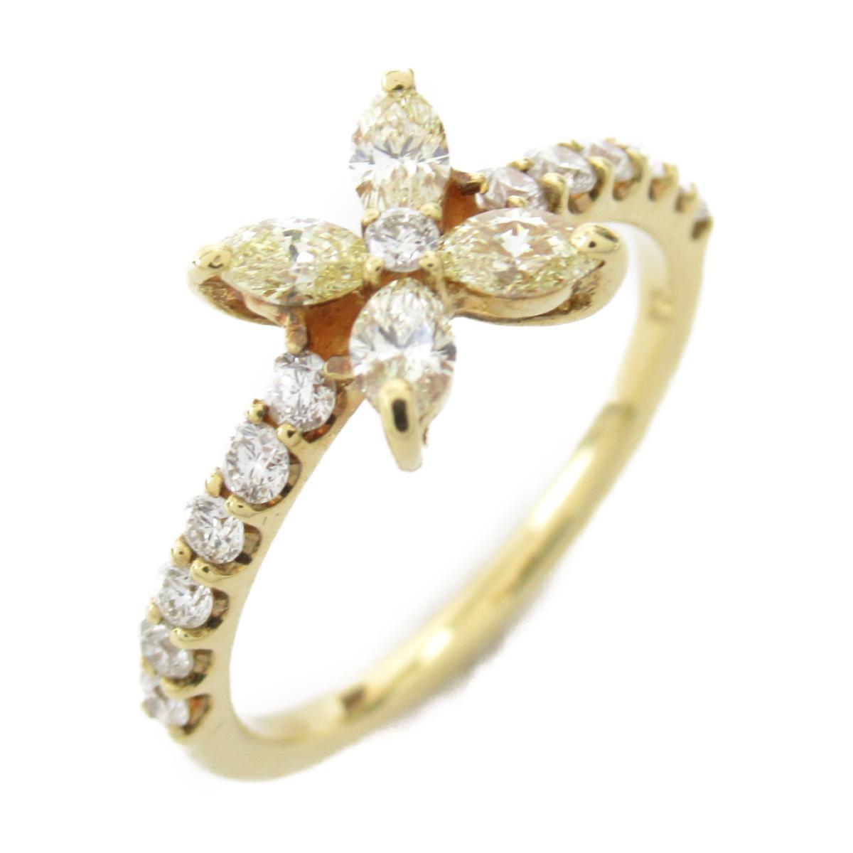 ジュエリー ダイヤモンド リング 指輪 ノーブランドジュエリー レディース K18YG (750) イエローゴールド x ダイヤモンド0.50ct 【中古】 | JEWELRY BRANDOFF ブランドオフ アクセサリー