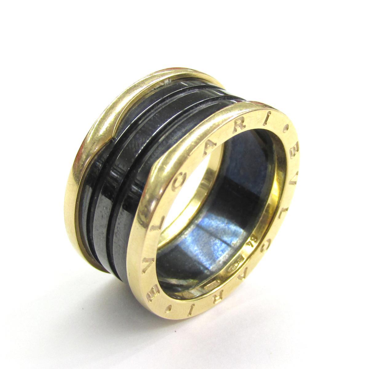 ブルガリ B-zero1 リング ブランドジュエリー メンズ レディース K18PG (750) ピンクゴールド x セラミック 【中古】 | BVLGARI BRANDOFF ブランドオフ ブランド ジュエリー アクセサリー 指輪