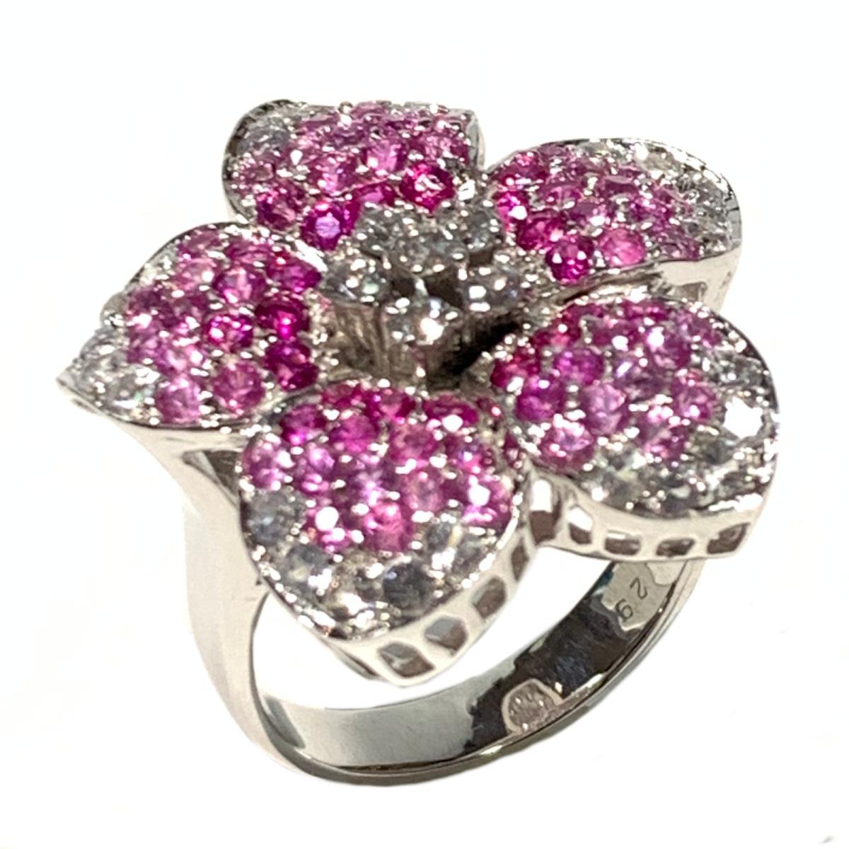 ジュエリー ダイヤモンド 指輪 リング ノーブランドジュエリー レディース K14WGホワイトゴールドシルバー x ピンクJEWELRY BRANDOFF ブランドオフ アクセサリーlK1cFJ