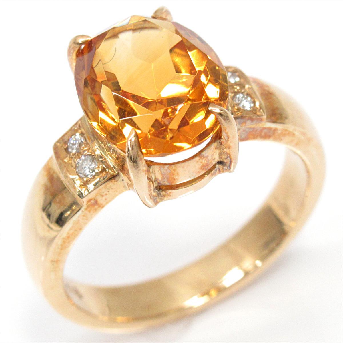 ジュエリー 色石リング 指輪 ノーブランドジュエリー レディース K18YG (750) イエローゴールドx色石 (石目なし) 【中古】 | JEWELRY BRANDOFF ブランドオフ ブランド アクセサリー リング