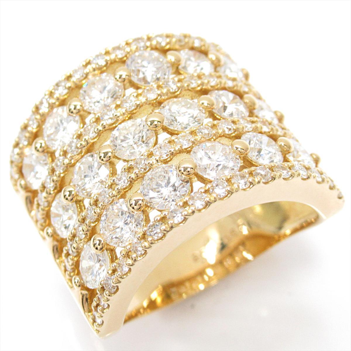 ジュエリー ダイヤモンドリング 指輪 ノーブランドジュエリー レディース K18YG (750) イエローゴールドxダイヤモンド (2.65   JEWELRY BRANDOFF ブランドオフ アクセサリー リング