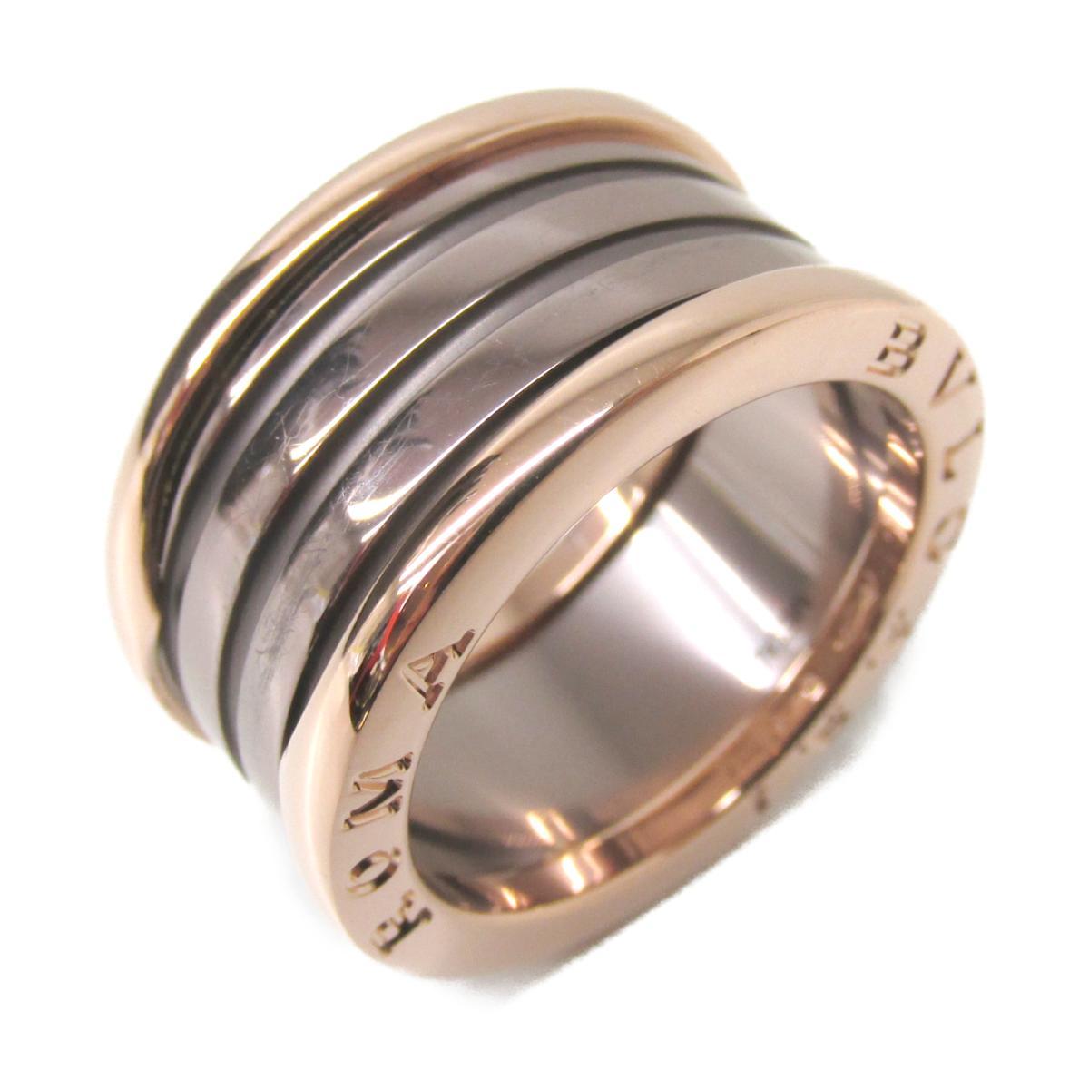 ブルガリ B-zero1 リング Lサイズ 指輪 ブランドジュエリー メンズ レディース K18PG (750) ピンクゴールド x セラミック (349200) 【中古】 | BVLGARI BRANDOFF ブランドオフ ブランド ジュエリー アクセサリー
