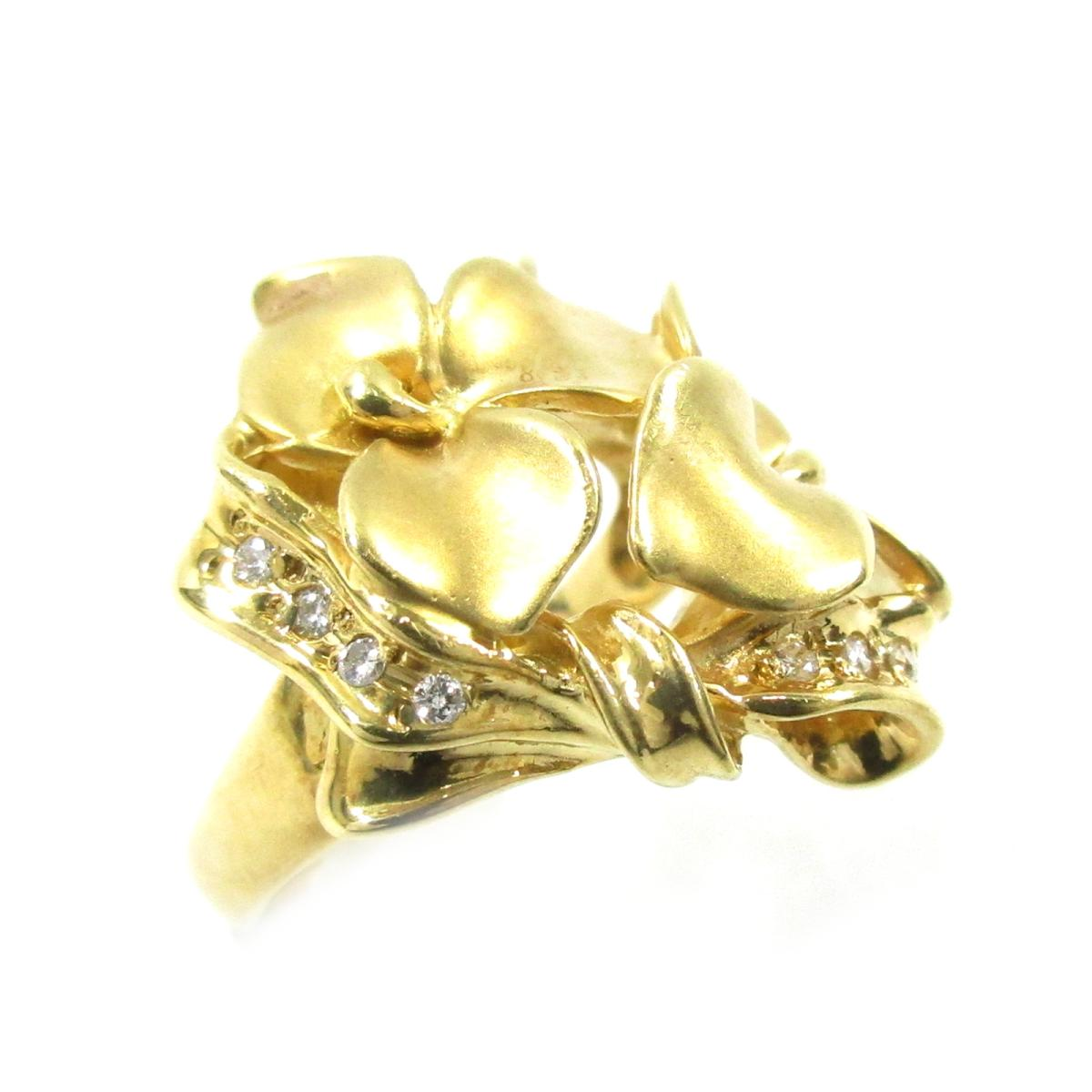 ジュエリー ダイヤモンドリング 指輪 ノーブランドジュエリー レディース K18YG (750) イエローゴールド X ダイヤモンド0.05ct ゴールド クリアー 【中古】   JEWELRY BRANDOFF ブランドオフ ブランド アクセサリー リング