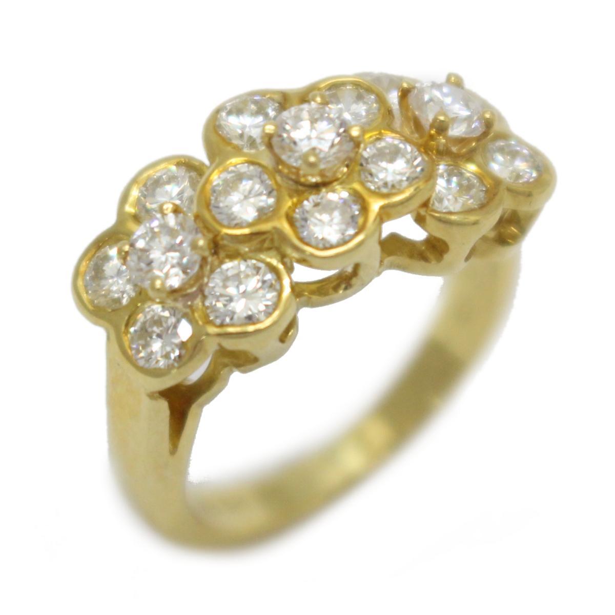 ヴァンクリーフ&アーペル ダイヤモンド リング 指輪 ブランドジュエリー レディース K18YG (750) イエローゴールド 【中古】 | Van Cleef & Arpels BRANDOFF ブランドオフ ブランド ジュエリー アクセサリー