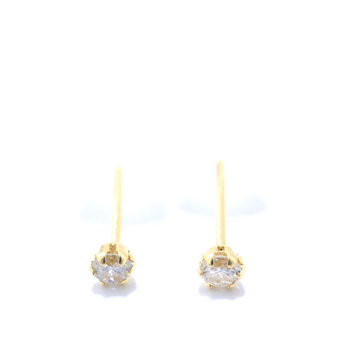 ジュエリー ダイヤモンド ピアス ノーブランドジュエリー レディース K18YG (750) イエローゴールド x (0.05ct x2) クリアー ゴールド 【中古】 | JEWELRY BRANDOFF ブランドオフ アクセサリー