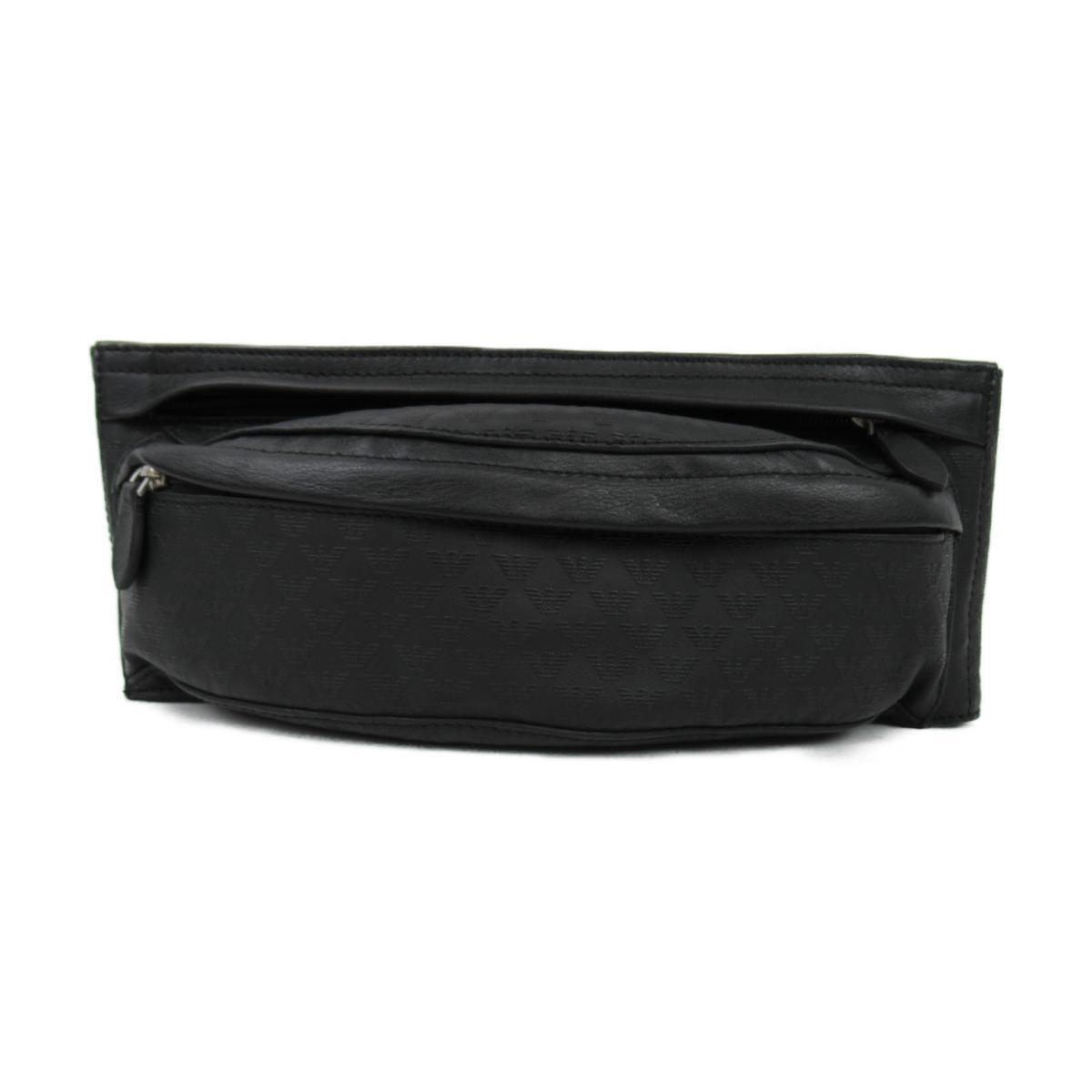エンポリオアルマーニ レザー ウエストバッグ バッグ メンズ ブラック 【中古】 | ブランド