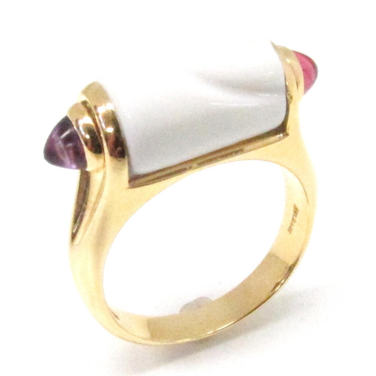 ブルガリ トロンケット リング 指輪 ブランドジュエリー レディース K18YG (750) イエローゴールド x ホワイトセラミック アメジスト 【中古】 | BVLGARI BRANDOFF ブランドオフ ブランド ジュエリー アクセサリー
