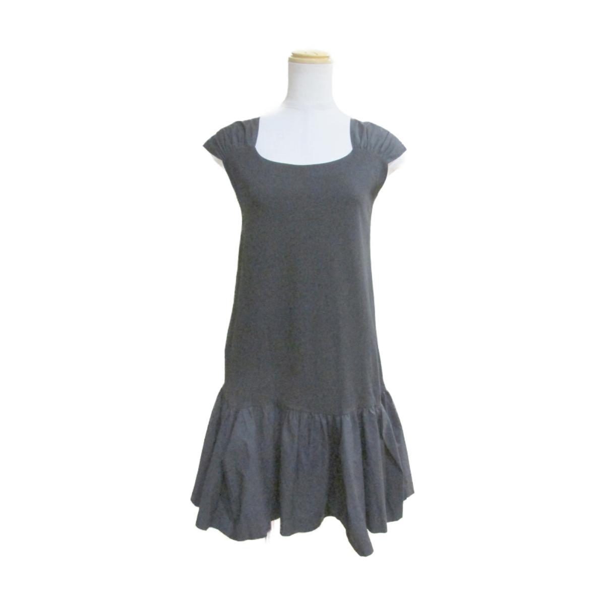 ミュウミュウ ワンピース 衣料品 レディース コットン100% ブラック 【中古】   miu BRANDOFF ブランドオフ 衣類 ブランド