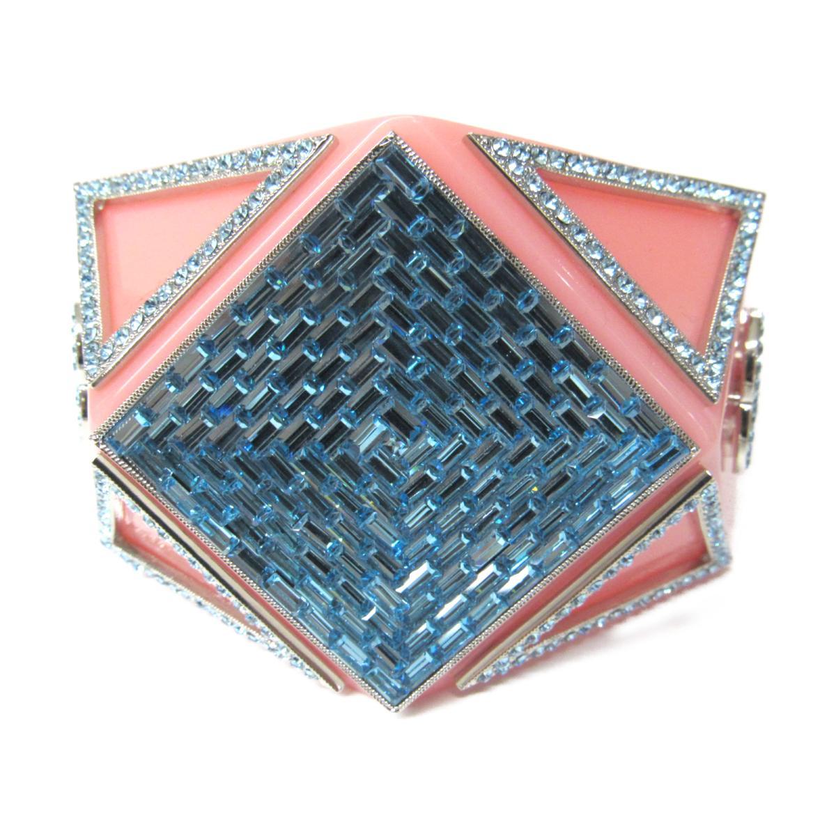 シャネル バングル 14K アクセサリー レディース プラスチック x ラインストーン ピンク ブルー 【中古】 | CHANEL BRANDOFF ブランドオフ ブランド ブレスレット 腕輪