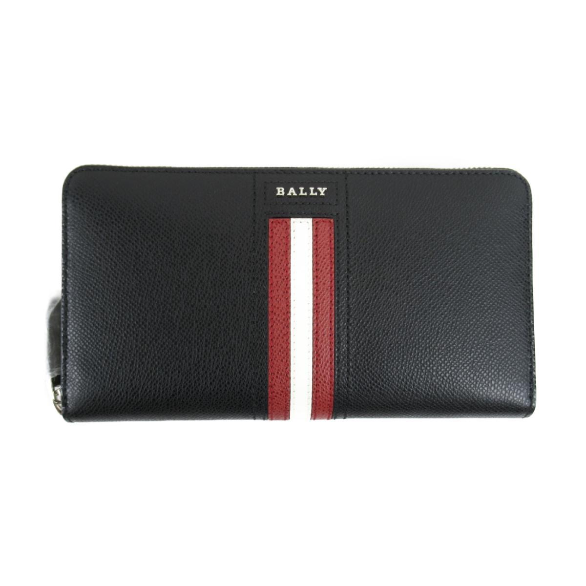 バリー ストライプ ラウンド長財布 財布 メンズ レザー ブラック (6218049) | BALLY BRANDOFF ブランドオフ レディース ブランド ブランド財布 レディース財布 サイフ