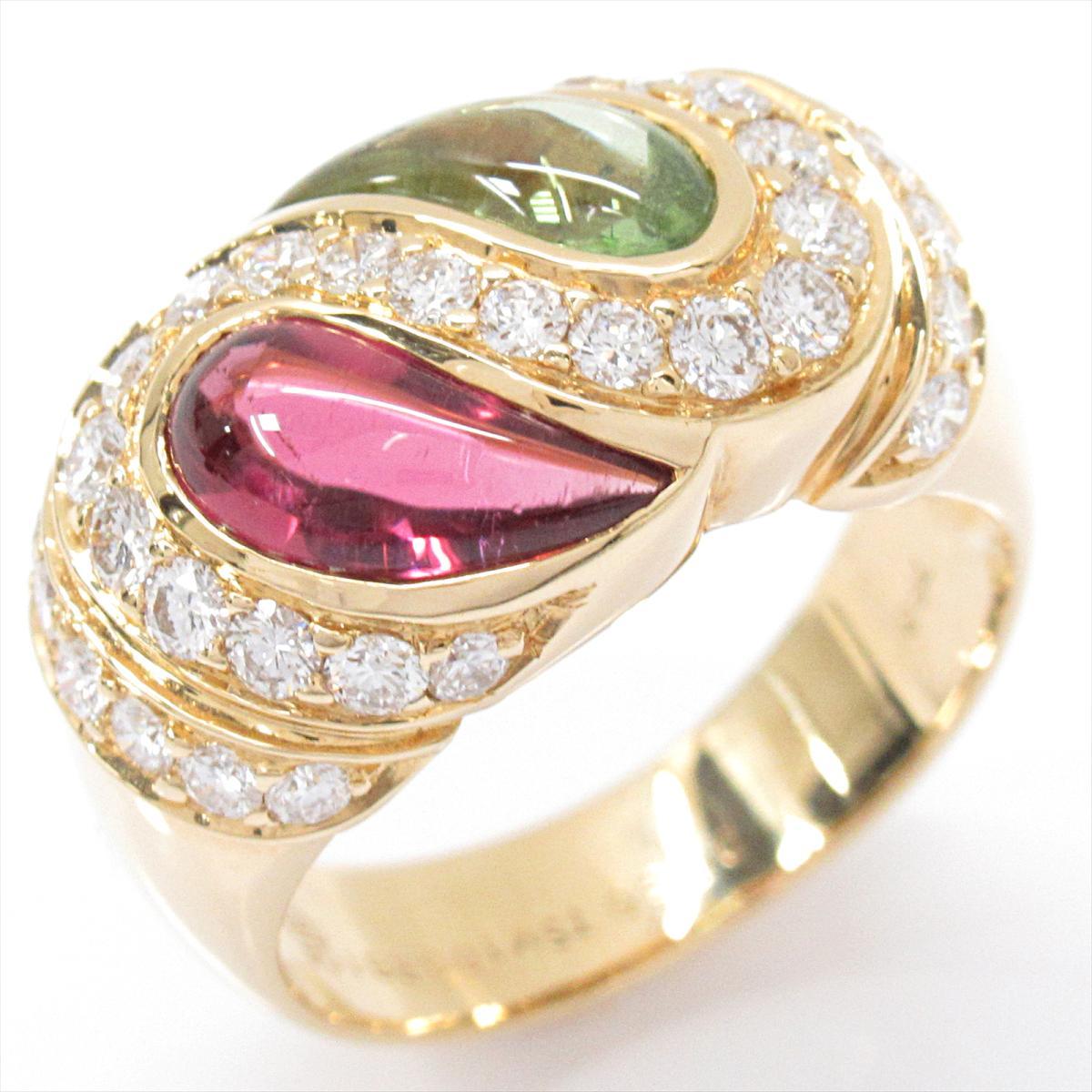 ギ・ラロッシュ トルマリン リング 指輪 ノーブランドジュエリー レディース K18YG (750) イエローゴールド x ダイヤモンド (0.80ct) 【中古】 | Guy Laroche BRANDOFF ブランドオフ ブランド ジュエリー アクセサリー