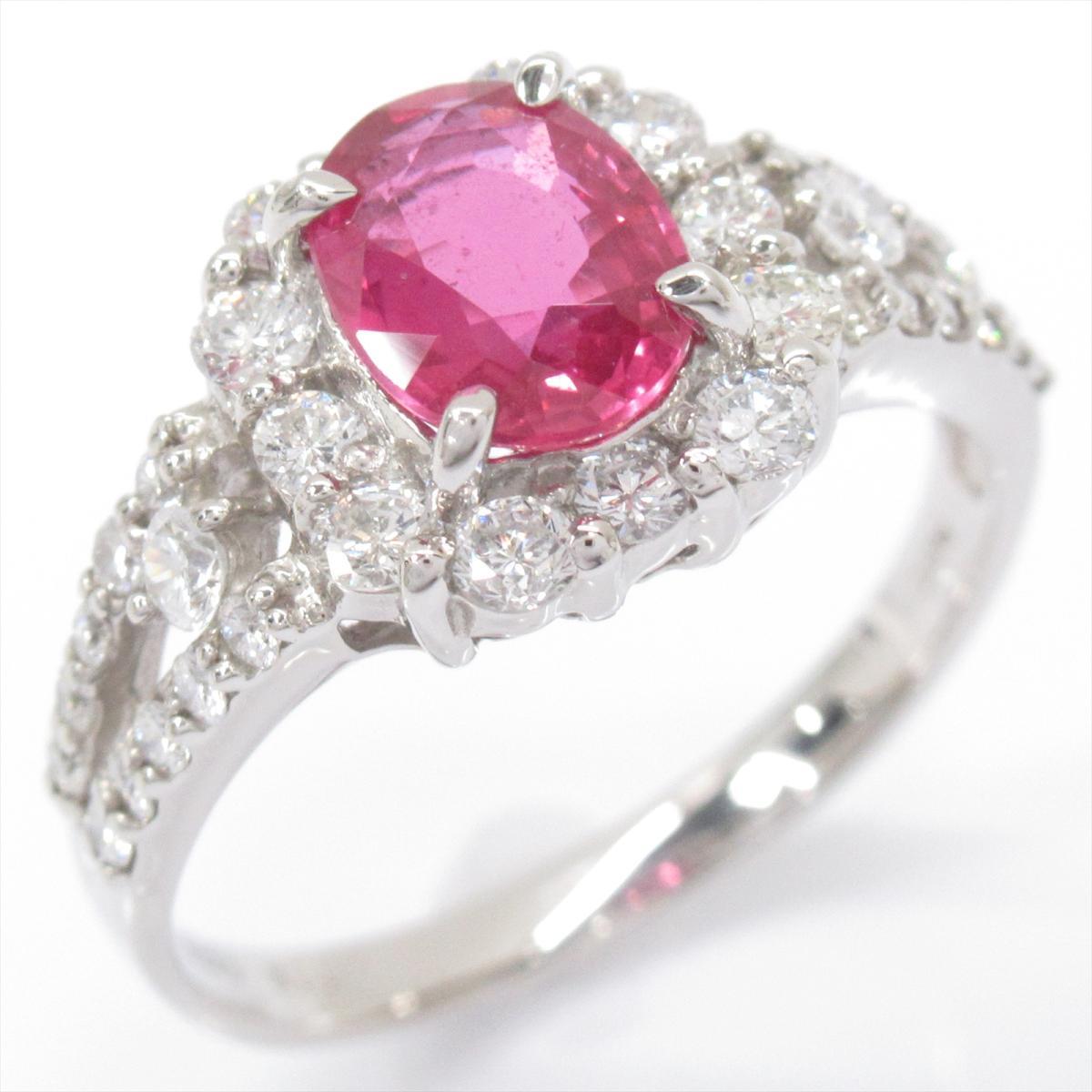 ジュエリー ルビー リング 指輪 ノーブランドジュエリー レディース PT900 プラチナ x (1.12ct) ダイヤモンド (0.623ct) 【中古】 | JEWELRY BRANDOFF ブランドオフ アクセサリー