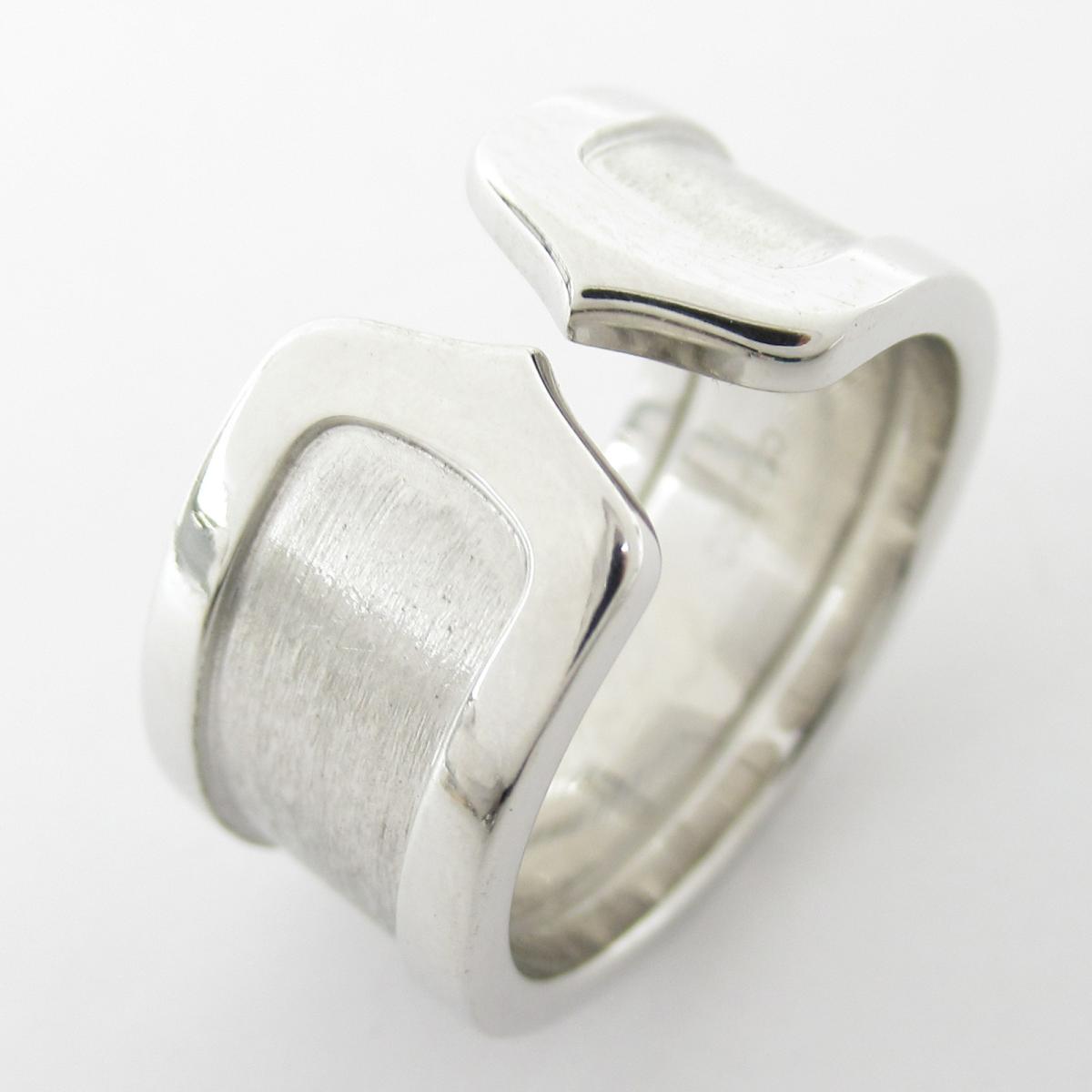 カルティエ C2 リングLM 指輪 ブランドジュエリー メンズ レディース K18WG (750) ホワイトゴールド 【中古】 | Cartier BRANDOFF ブランドオフ ブランド ジュエリー アクセサリー リング