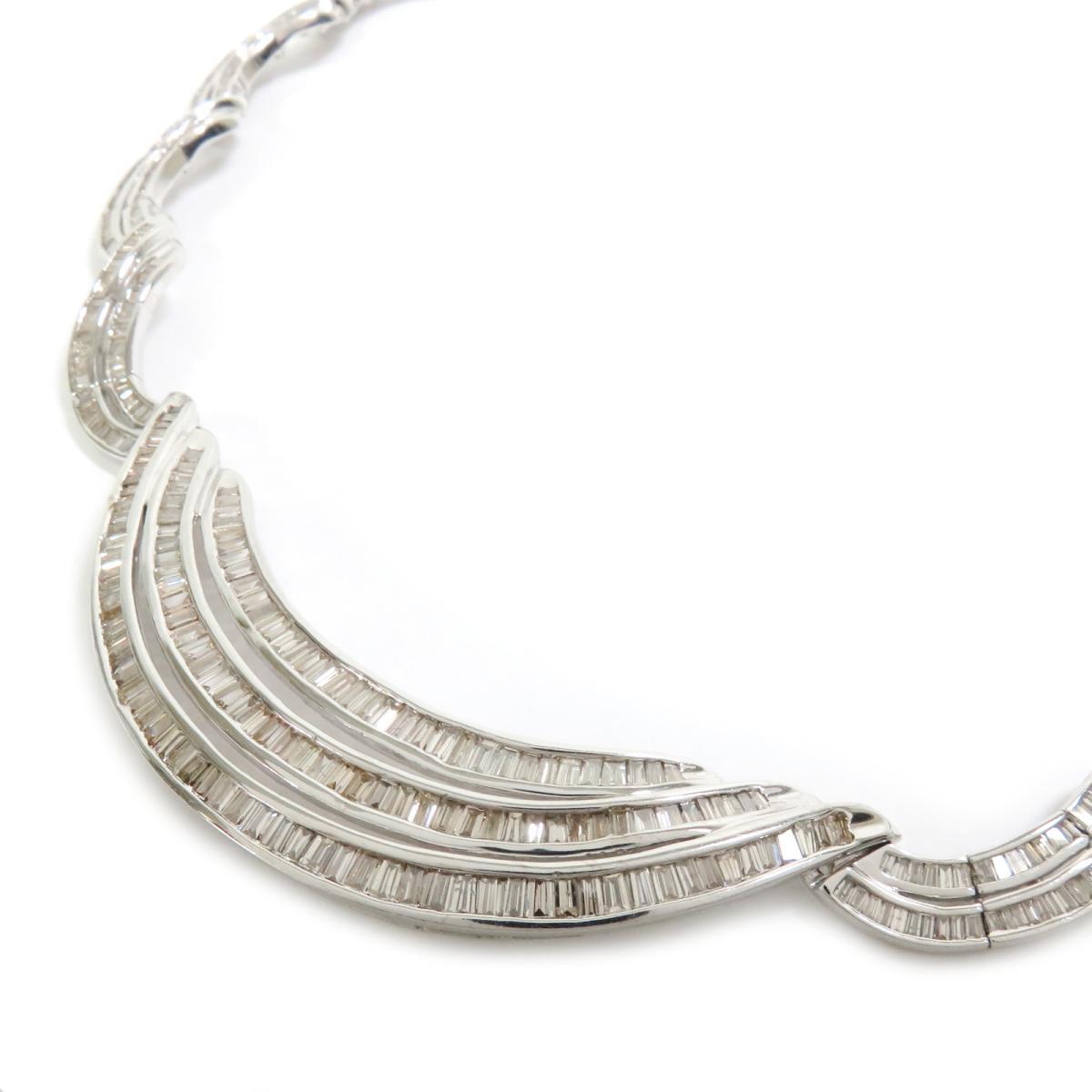 ジュエリー ダイヤモンド ネックレス チョーカー ノーブランドジュエリー レディース K18WG (750) ホワイトゴールド | JEWELRY BRANDOFF ブランドオフ アクセサリー ペンダント