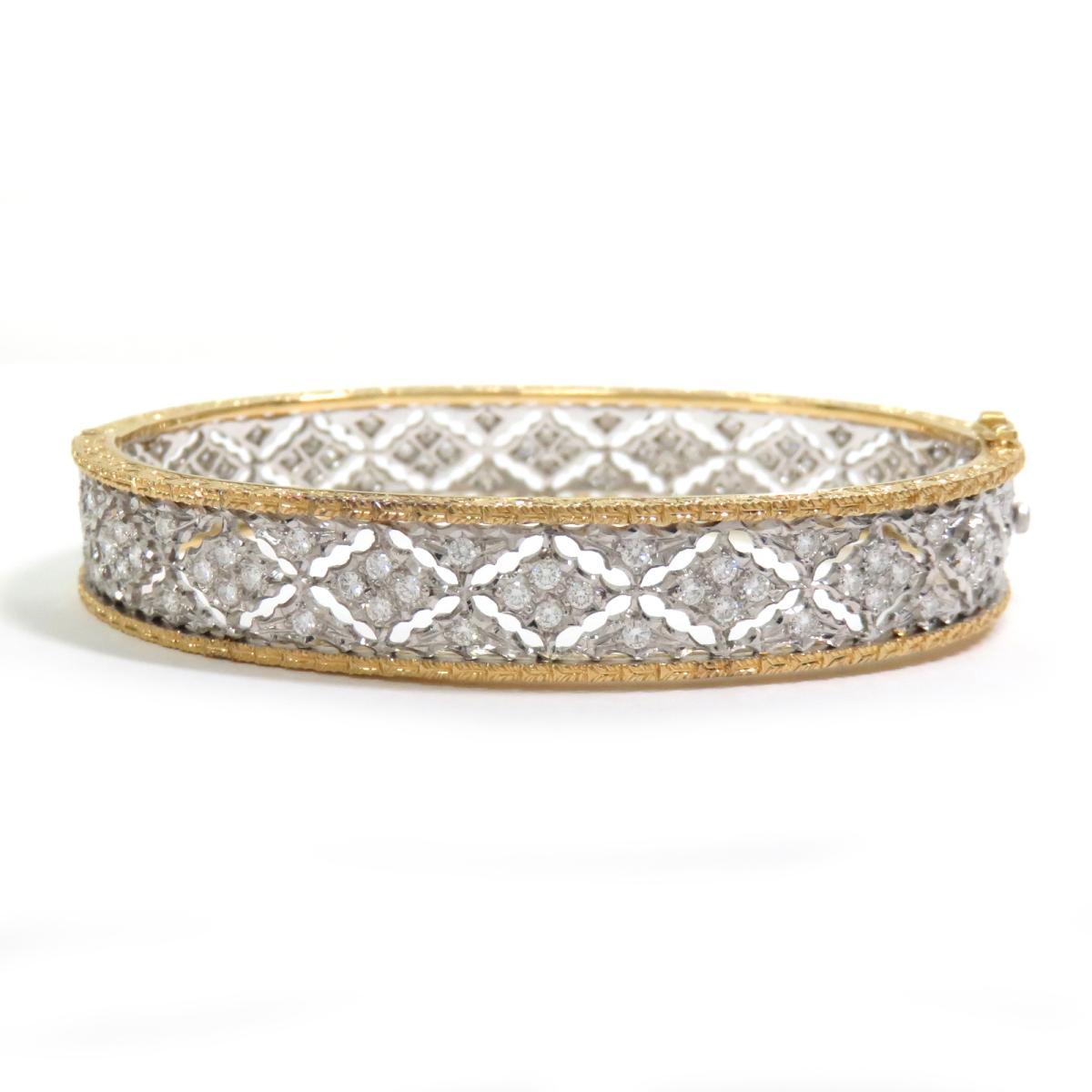 ジュエリー FEDERICO BUCCHLLAT ダイヤモンド バングル ノーブランドジュエリー レディース K18WG (750) ホワイトゴールド | JEWELRY BRANDOFF ブランドオフ アクセサリー ブレスレット 腕輪