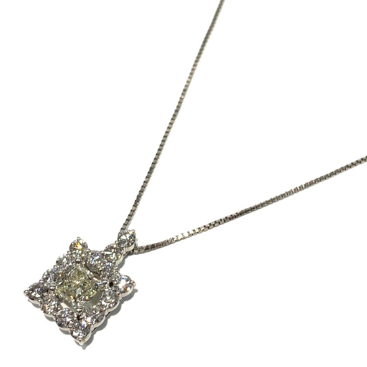 ジュエリー ダイヤモンド ネックレス ノーブランドジュエリー レディース PT900 プラチナ x PT850 ダイヤモンド1.016 | JEWELRY BRANDOFF ブランドオフ ブランド アクセサリー ペンダント
