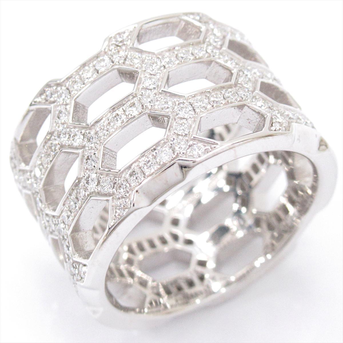 ブルガリ セルペンティ ヴァイパー リング 指輪 ブランドジュエリー レディース K18WG (750) ホワイトゴールド x ダイヤモンド 【中古】 | BVLGARI BRANDOFF ブランドオフ ブランド ジュエリー アクセサリー