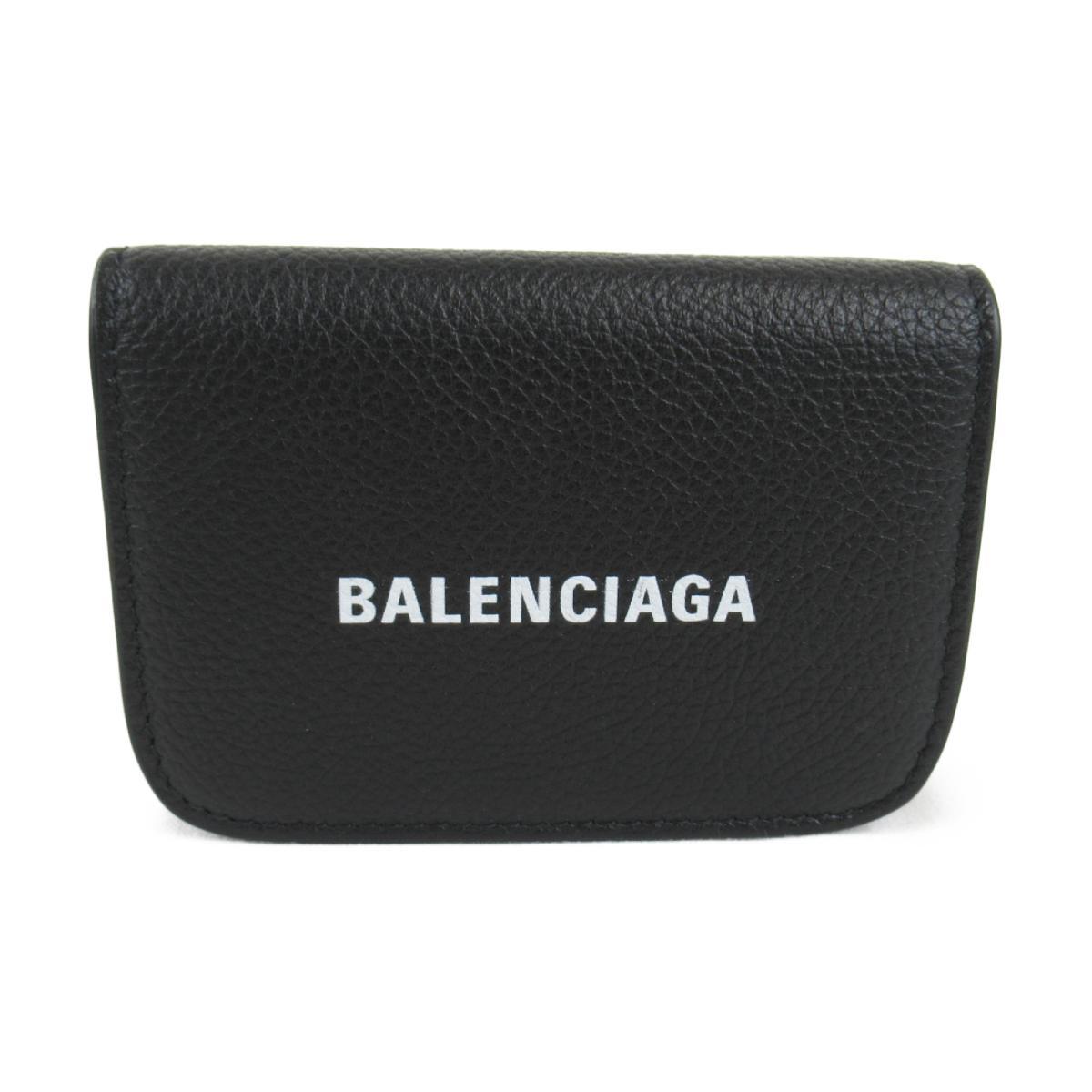 バレンシアガ CASH MINI WALLET 二つ折り財布 財布 メンズ レディース レザー ブラック (5938131IZ4M1090) | BALENCIAGA BRANDOFF ブランドオフ ブランド ブランド財布 レディース財布 サイフ