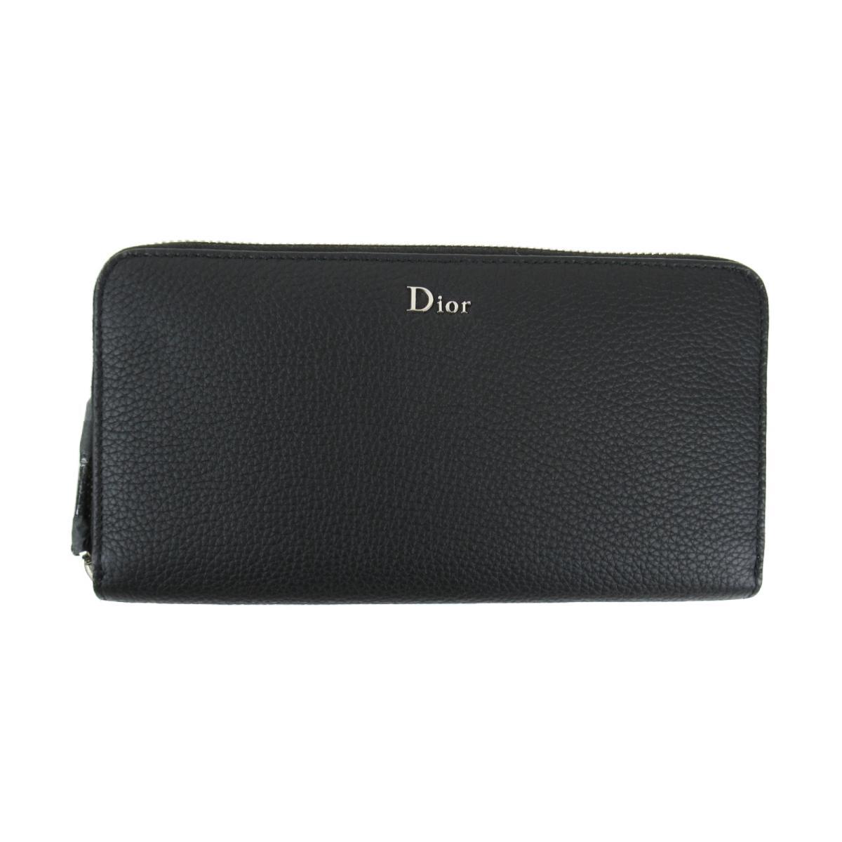 クリスチャン・ディオール WALLET ラウンド長財布 財布 メンズ レディース レザー ブラック (2DSBC011TABH900) | Dior BRANDOFF ブランドオフ ブランド ブランド財布 レディース財布 サイフ