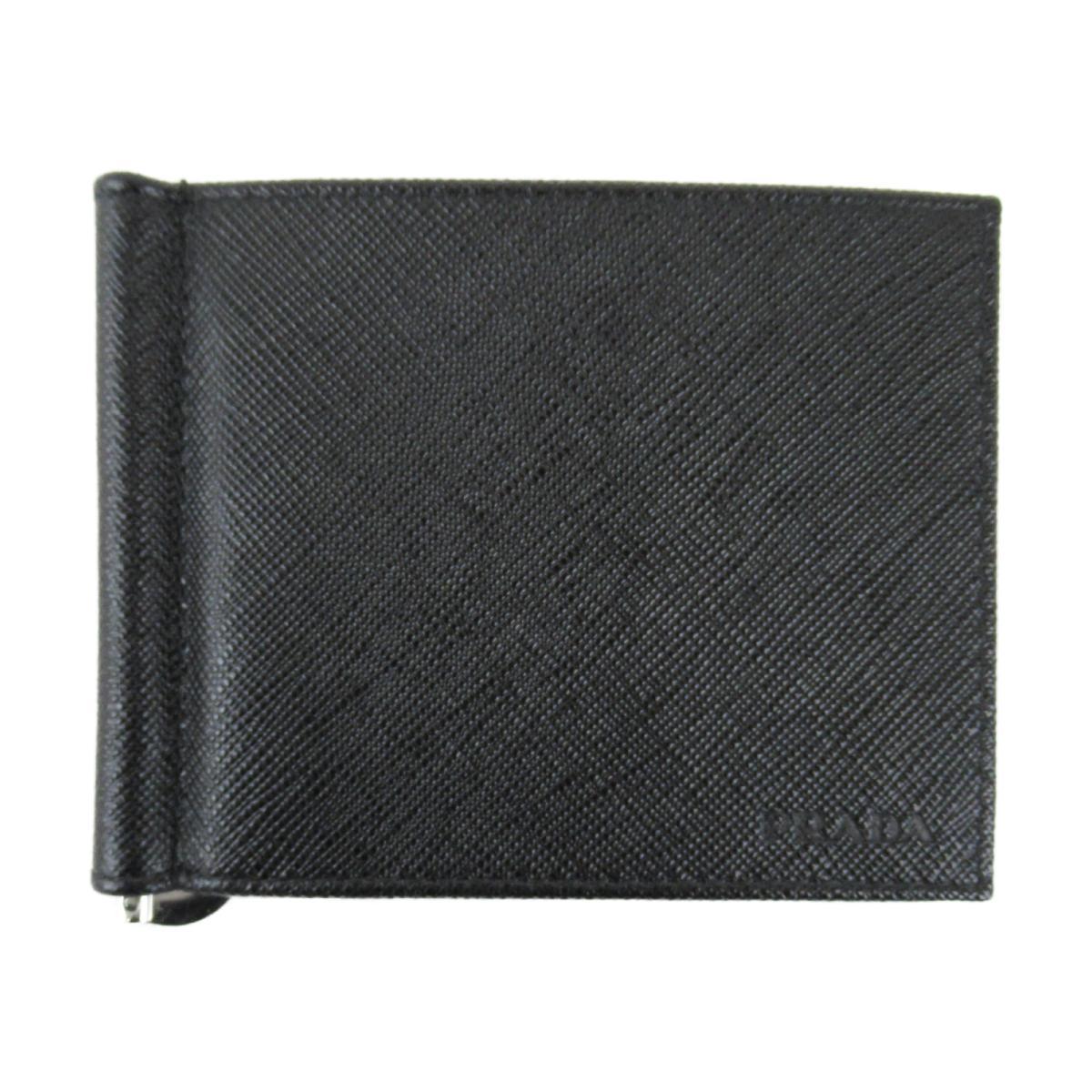 プラダ SLG サフィアーノ マネークリップ カード ケース 財布 メンズ レディース サフィアーノレザー ブラック (2MN077053F0002)   PRADA BRANDOFF ブランドオフ ブランド ブランド財布 レディース財布 サイフ