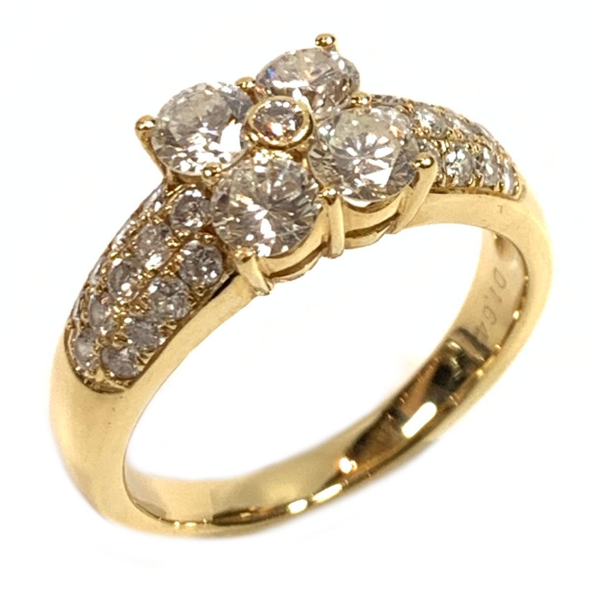 ジュエリー ダイヤモンド リング 指輪 ノーブランドジュエリー レディース K18YG (750) イエローゴールド x ダイヤ1.64ct クリアー ゴールド 【中古】 | JEWELRY BRANDOFF ブランドオフ アクセサリー