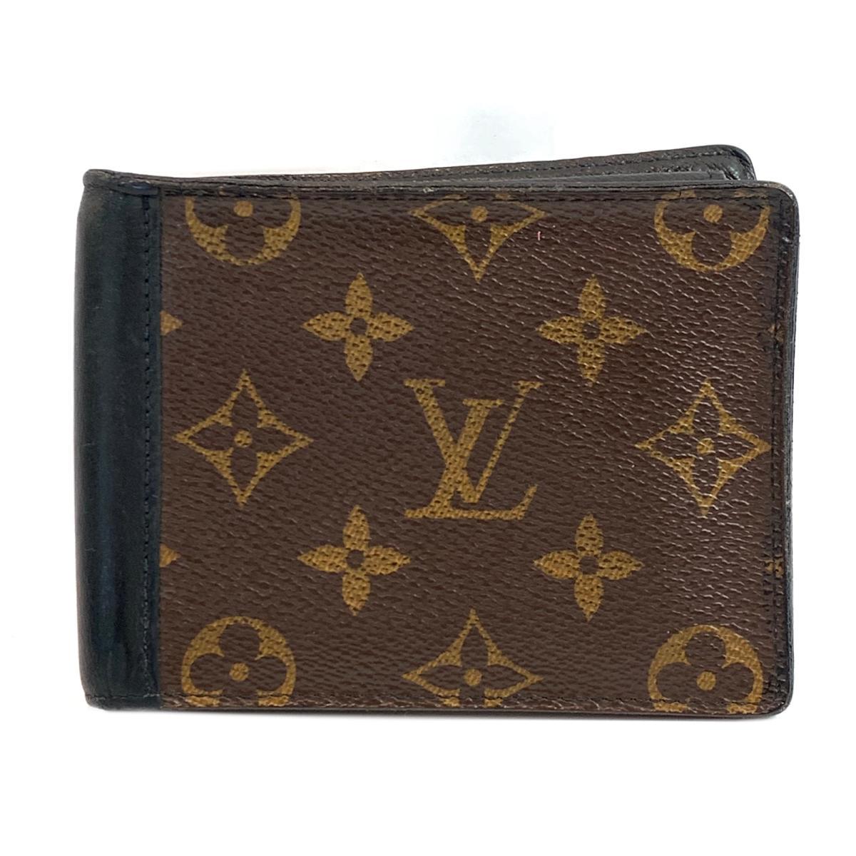 【中古】ルイヴィトン ポルトフォイユ・ミンドロ 二つ折り財布 財布 ユニセックス モノグラム モノグラム x ブラック (M60411)