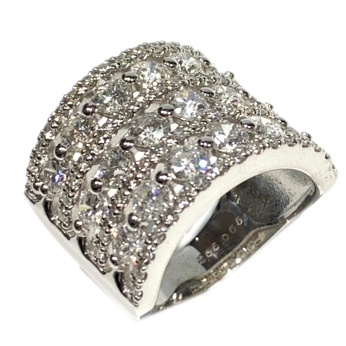 ジュエリー ダイヤモンド リング 指輪 ノーブランドジュエリー レディース K18WG (750) ホワイトゴールド x 2.65ct | JEWELRY BRANDOFF ブランドオフ アクセサリー