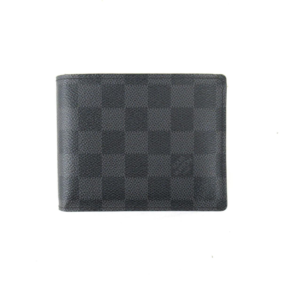 【中古】ルイヴィトン ポルトフォイユ・フロリン 二つ折り財布 財布 メンズ ダミエ・グラフィット ダミエ・グラフィット (N63074)