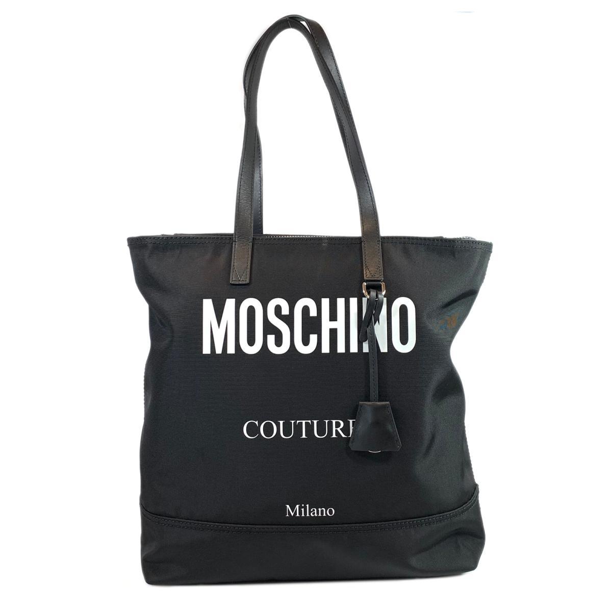 【中古】モスキーノ モスキーノクチュール トートバッグ バッグ ユニセックス ナイロン ブラック