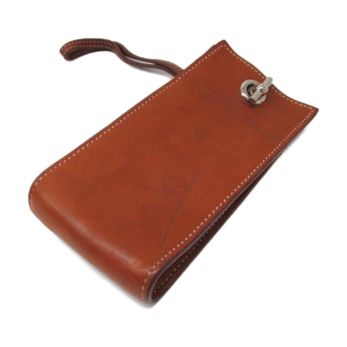 【中古】エルメス 携帯ケース  財布 ユニセックス バレニア ゴールド(金具:シルバー)