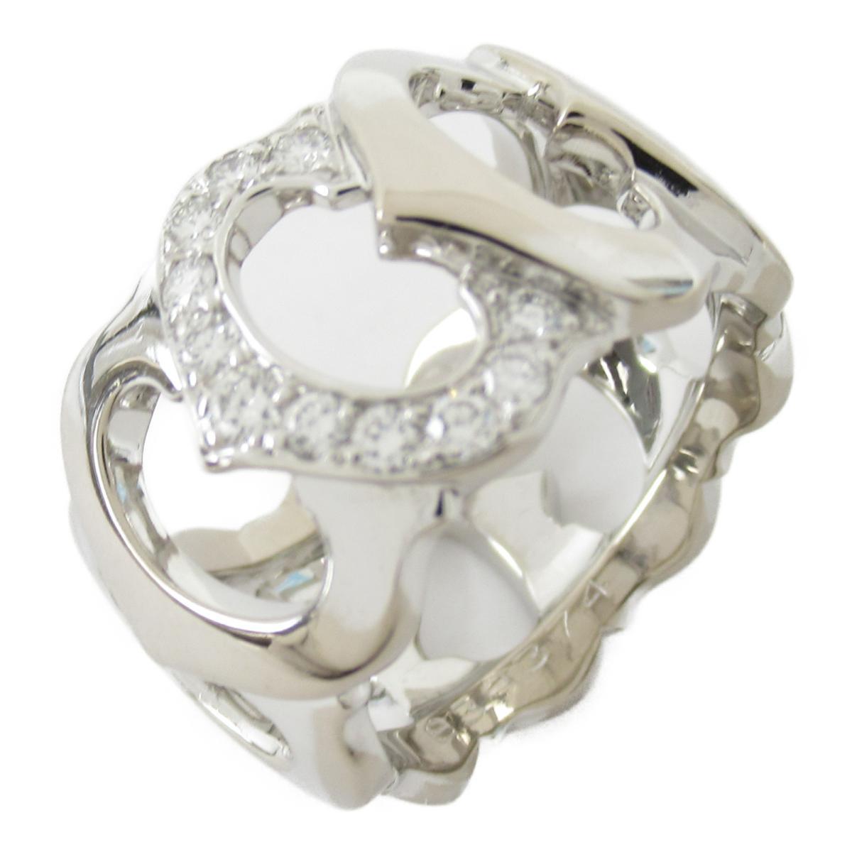カルティエ Cドゥカルティエ リング 指輪 ブランドジュエリー レディース K18WG (750) ホワイトゴールド x ダイヤモンド 【中古】 | Cartier BRANDOFF ブランドオフ ブランド ジュエリー アクセサリー