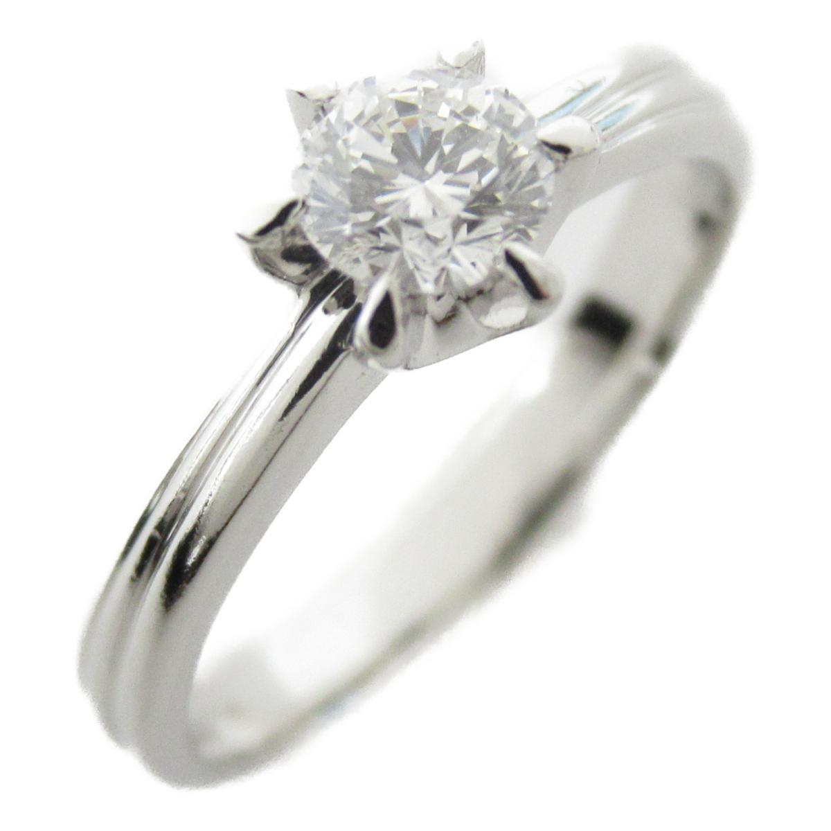 ジュエリー 一粒 ダイヤモンド リング 指輪 ノーブランドジュエリー レディース PT900 プラチナ x ダイヤモンド0.313ct 【中古】 | JEWELRY BRANDOFF ブランドオフ アクセサリー