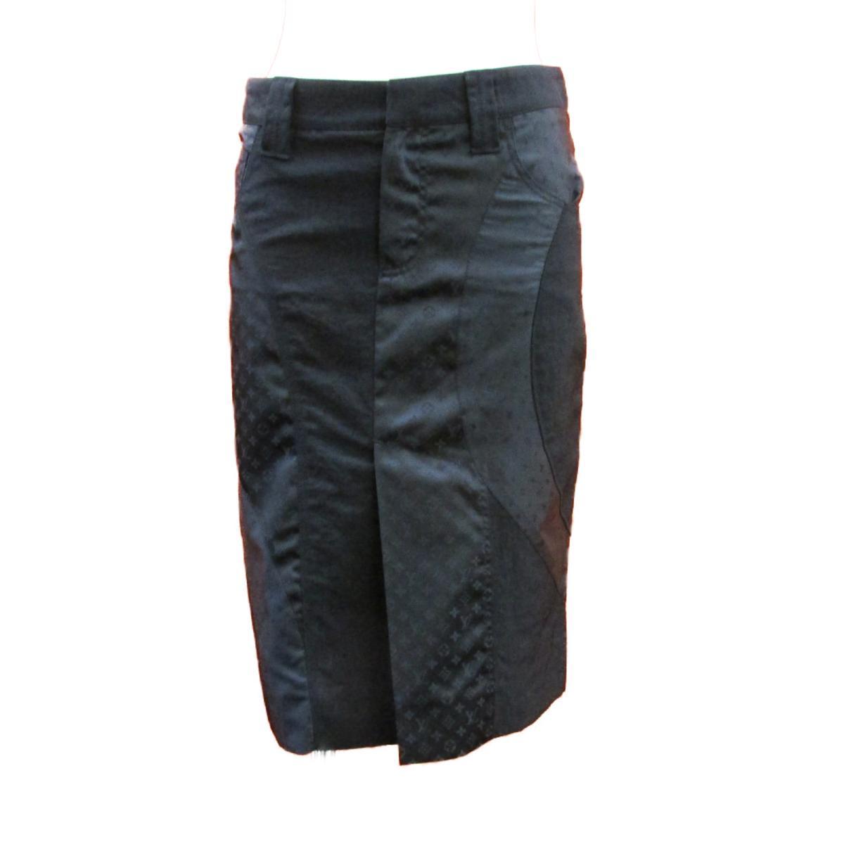 【中古】ルイヴィトン スカート 衣料品 レディース ナイロン×ポリエステル ブラック