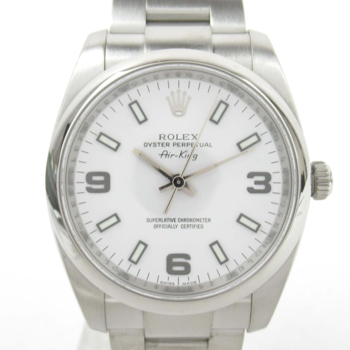 輝く高品質な ロレックス エアキング | ウォッチ 腕時計 時計 BRANDOFF メンズ エアキング ステンレススチール (SS) (114200 Z番)【】 | ROLEX BRANDOFF ブランドオフ ブランド ブランド時計 ブランド腕時計, colettecolette コレットコレット:55a3003f --- baecker-innung-westfalen-sued.de