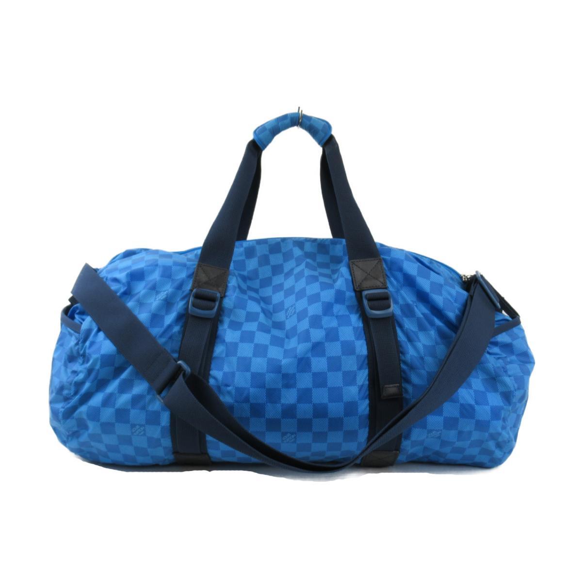 ルイヴィトン プロクティカル ナイロン スポーツバッグ バッグ メンズ レディース ダミエ・アバンチュール ブルー (M97057) 【中古】   ブランド