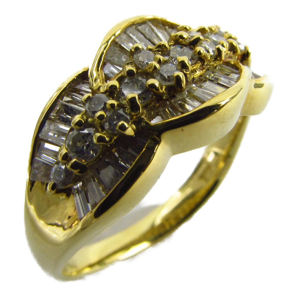 ジュエリー ダイヤモンド リング 指輪 ノーブランドジュエリー レディース K18YG (750) イエローゴールド x ダイヤモンド石目なし 【中古】 | JEWELRY BRANDOFF ブランドオフ アクセサリー