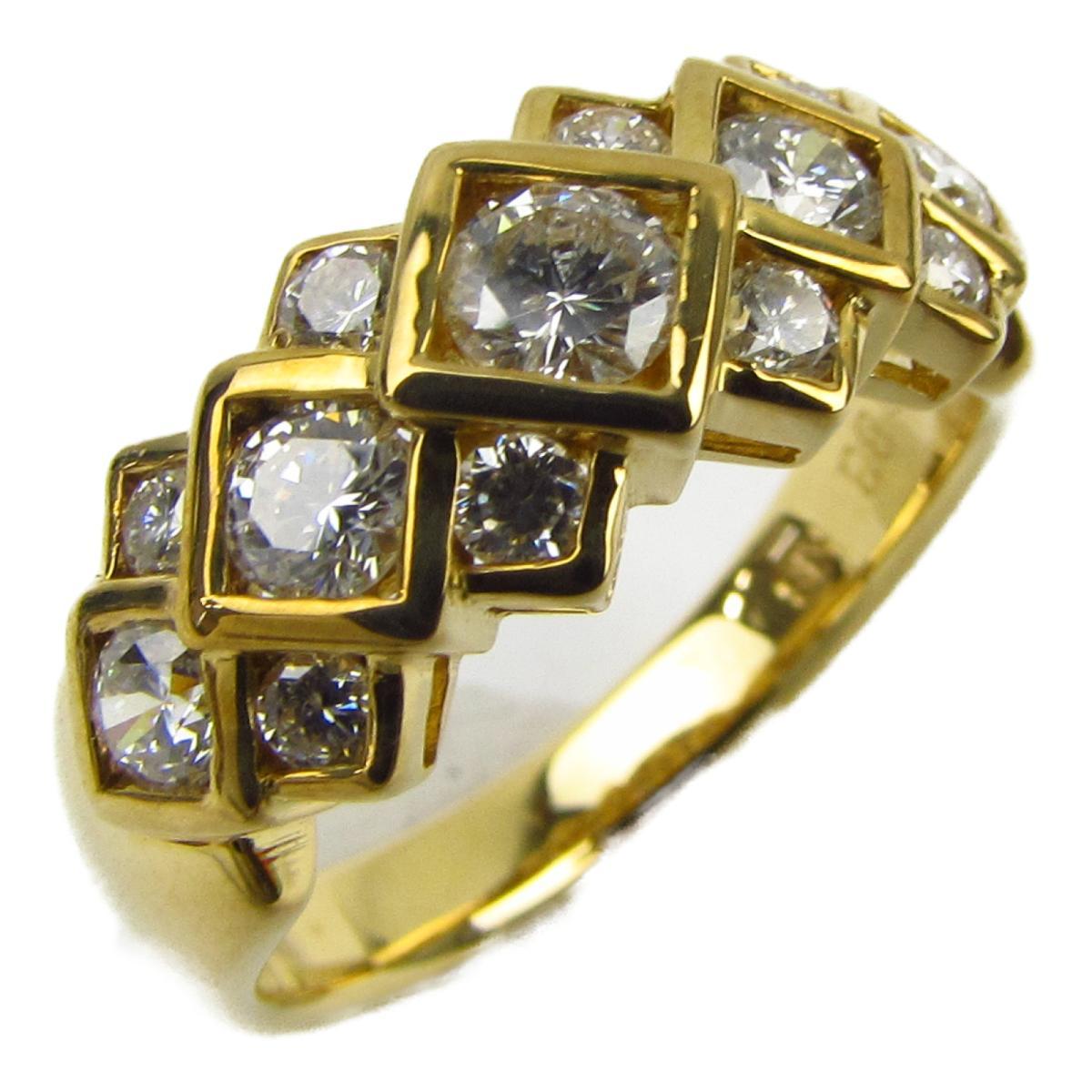 ジュエリー ダイヤモンド リング 指輪 ノーブランドジュエリー レディース K18YG (750) イエローゴールド x ダイヤモンド0.83ct 【中古】   JEWELRY BRANDOFF ブランドオフ アクセサリー