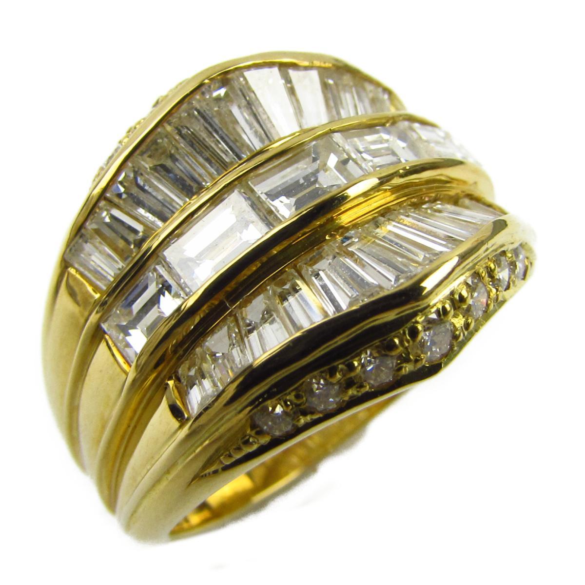 ジュエリー ダイヤモンド リング 指輪 ノーブランドジュエリー レディース K18YG (750) イエローゴールド x ダイヤモンド2.15ct 【中古】 | JEWELRY BRANDOFF ブランドオフ アクセサリー