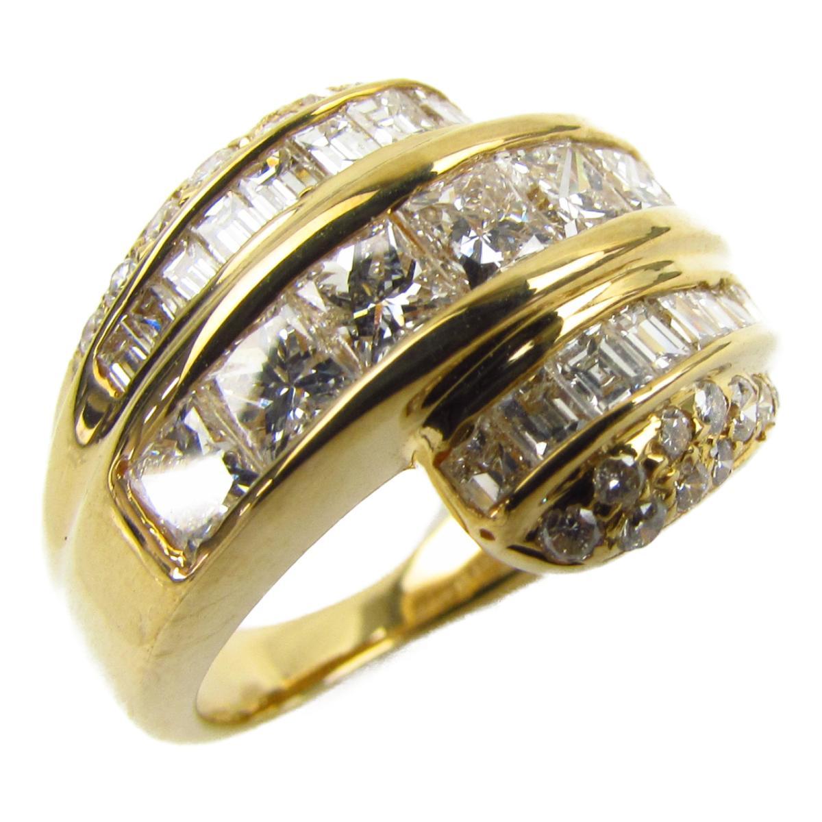 ジュエリー ダイヤモンド リング 指輪 ノーブランドジュエリー レディース K18YG (750) イエローゴールド x ダイヤモンド1.80ct 【中古】   JEWELRY BRANDOFF ブランドオフ アクセサリー