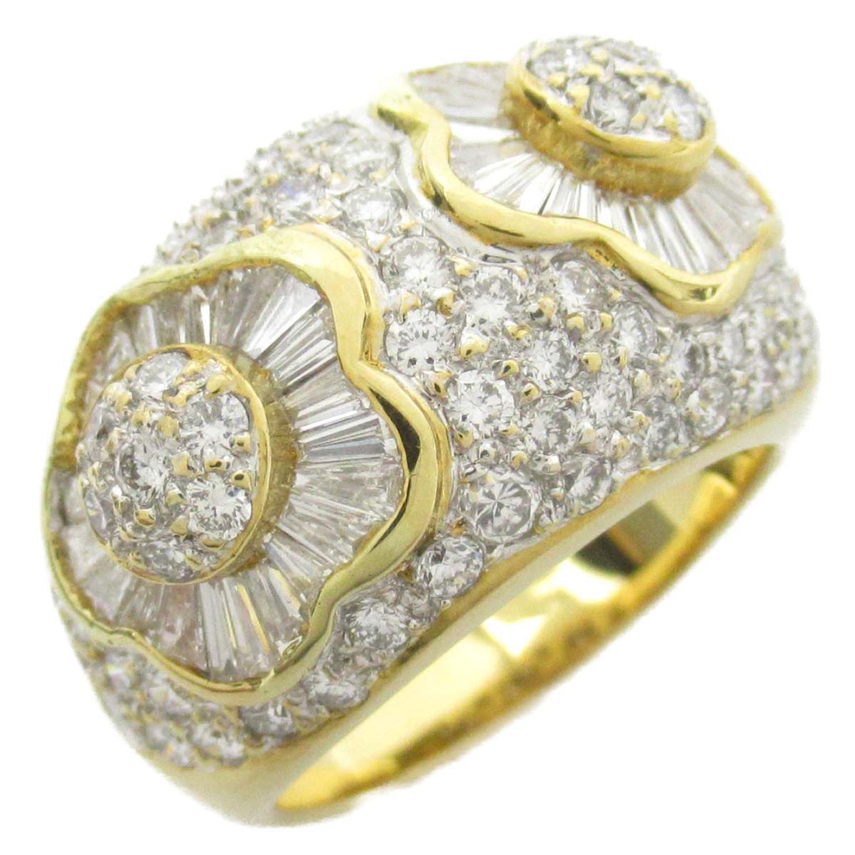ジュエリー ダイヤモンド リング 指輪 ノーブランドジュエリー レディース K18WG (750) ホワイトゴールド x K18YG イエローゴールド ダイヤモンド2.57ct 【中古】 | JEWELRY BRANDOFF ブランドオフ アクセサリー