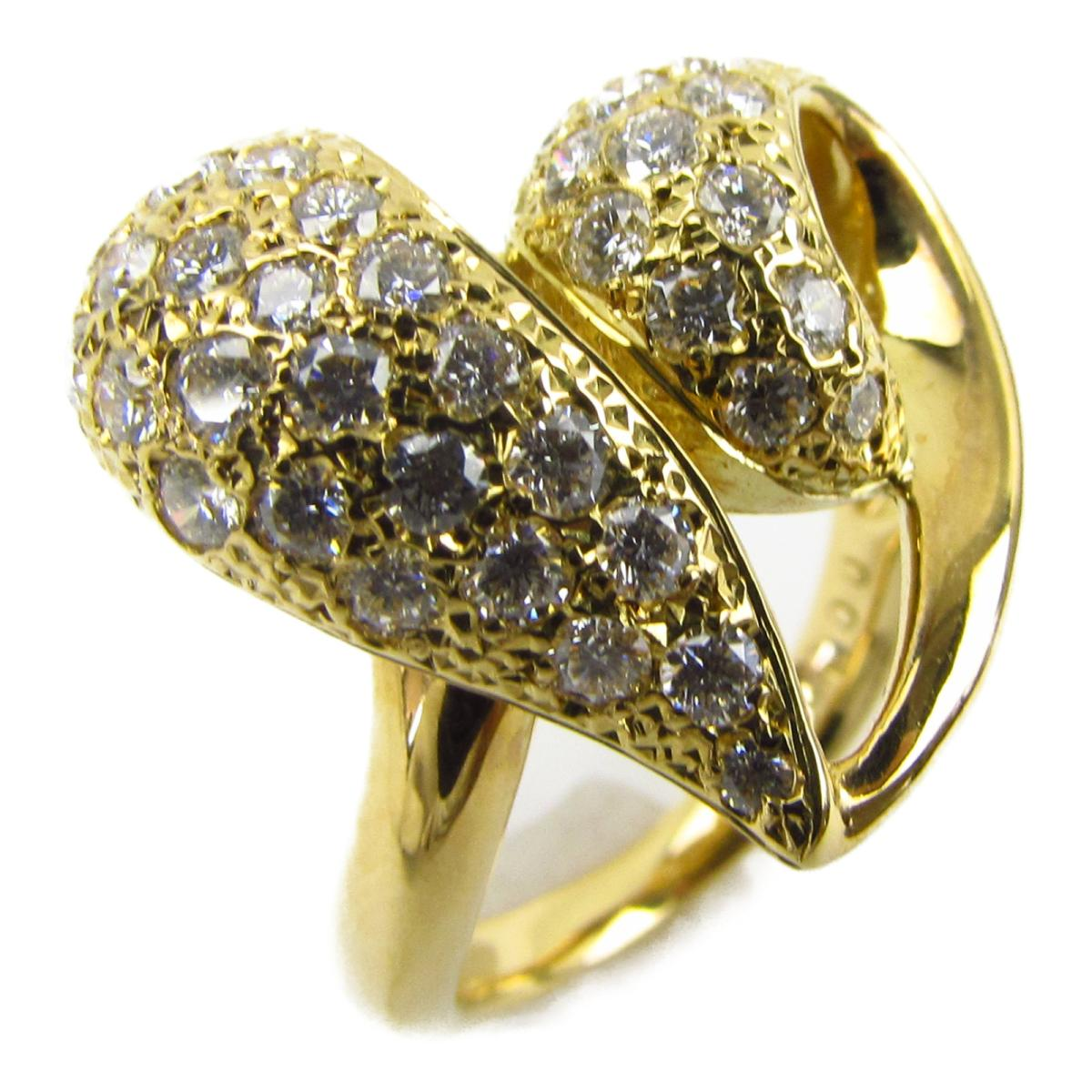 ジュエリー ハート ダイヤモンド リング 指輪 ノーブランドジュエリー レディース K18YG (750) イエローゴールド x ダイヤモンド1.00ct 【中古】 | JEWELRY BRANDOFF ブランドオフ アクセサリー