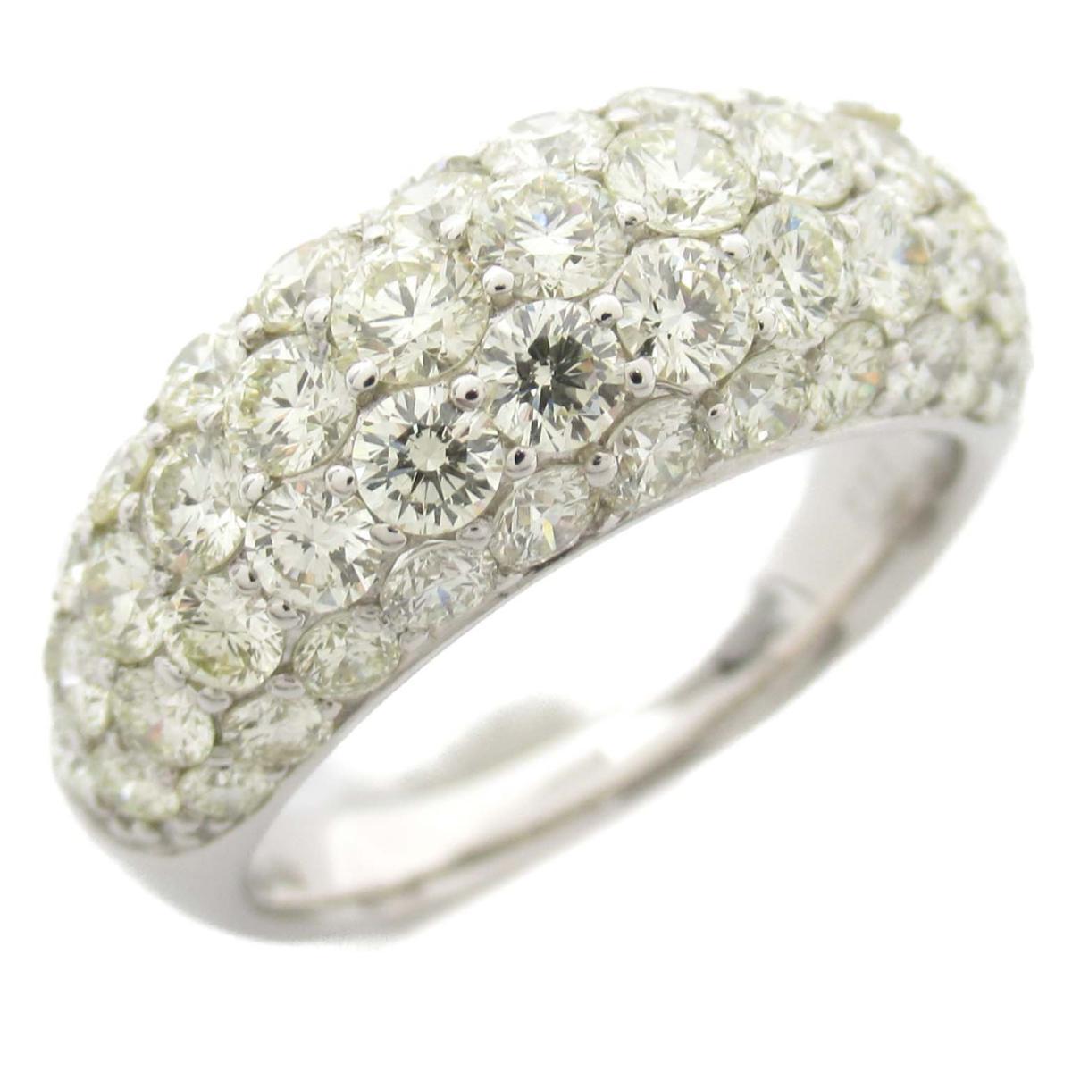 ジュエリー ダイヤモンド リング 指輪 ノーブランドジュエリー レディース 18Kホワイトゴールド x ダイヤモンド2.56ct 【中古】 | JEWELRY BRANDOFF ブランドオフ アクセサリー