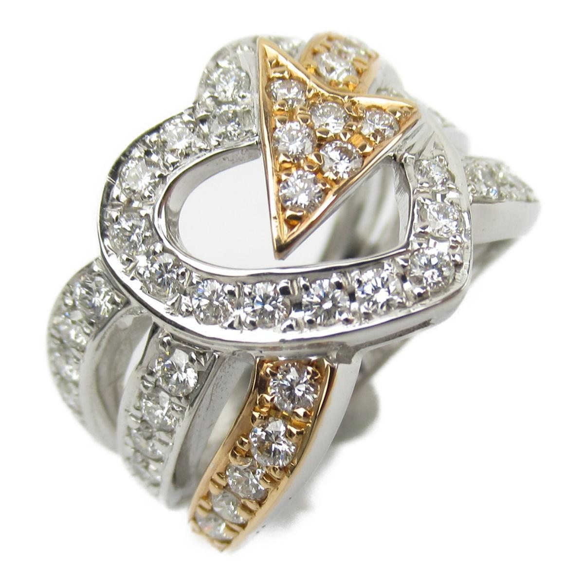 ジュエリー ダイヤモンド リング 指輪 ノーブランドジュエリー レディース K18WG (750) ホワイトゴールド x K18PG (ピンクゴールド) ダイヤモンド1.095ct 【中古】 | JEWELRY BRANDOFF ブランドオフ アクセサリー