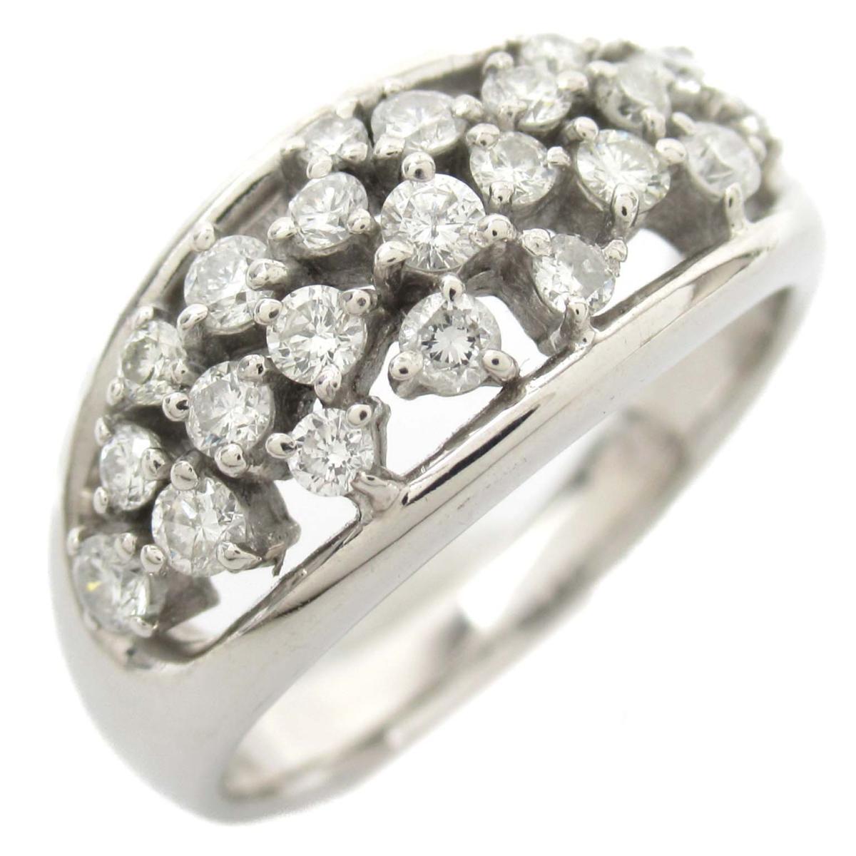 ジュエリー ダイヤモンド リング 指輪 ノーブランドジュエリー レディース 18Kホワイトゴールド x ダイヤモンド0.50ct 【中古】 | JEWELRY BRANDOFF ブランドオフ アクセサリー